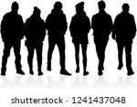 group of people. crowd of... | Shutterstock .eps vector #1241437048