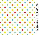 Seamless Colorful Polka Dots...