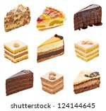 Collection Of  Various Cakes On ...