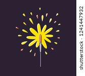 sparkler firework vector | Shutterstock .eps vector #1241447932