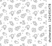 plane pattern seamless vector...   Shutterstock .eps vector #1241451478