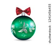 big green ball | Shutterstock .eps vector #1241456455