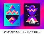 retro futuristic poster design...   Shutterstock .eps vector #1241461018