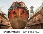 ship in the dock. sea tow to... | Shutterstock . vector #1241461762