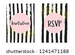 bridal shower set with dots and ... | Shutterstock .eps vector #1241471188