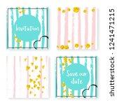 wedding stripes with glitter... | Shutterstock .eps vector #1241471215