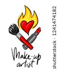 logo for makeup artist and...   Shutterstock .eps vector #1241474182