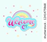 handwritten lettering welcome...   Shutterstock .eps vector #1241475868