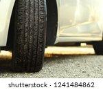close up car tire and traces.... | Shutterstock . vector #1241484862