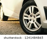 close up car tire and rim. used ... | Shutterstock . vector #1241484865