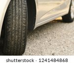 close up car tire and traces.... | Shutterstock . vector #1241484868