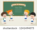 vector illustration of cartoon... | Shutterstock .eps vector #1241494075