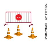 orange traffic cone 3d and...   Shutterstock .eps vector #1241494222