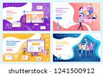 collaboration of team  super... | Shutterstock .eps vector #1241500912
