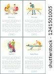 manicure manicurist and massage ... | Shutterstock .eps vector #1241501005