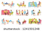 psychotherapy people talking... | Shutterstock .eps vector #1241501248
