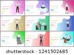 online business worker with... | Shutterstock .eps vector #1241502685