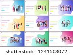 corporate party with people... | Shutterstock .eps vector #1241503072