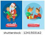 christmas banner  button in... | Shutterstock .eps vector #1241503162