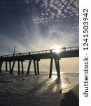 beautiful beach sunset of... | Shutterstock . vector #1241503942