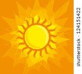 vector sun | Shutterstock .eps vector #124151422