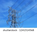 high voltage electrical... | Shutterstock . vector #1241514568
