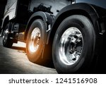Close Up Truck Tire  Wheel Of...