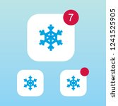 snowflake icon with notification