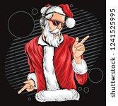 christmas santa claus dance | Shutterstock .eps vector #1241525995
