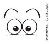 isolated surprised eyes cartoon.... | Shutterstock .eps vector #1241526508