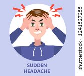 man suffer from the pain in the ... | Shutterstock .eps vector #1241527255