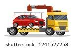 roadside assitance with borken...   Shutterstock .eps vector #1241527258