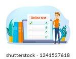 online test concept. quiz on...   Shutterstock .eps vector #1241527618