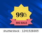 99  off discount promotion sale ...   Shutterstock .eps vector #1241528305