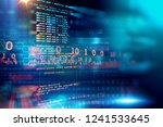 programming code abstract...   Shutterstock . vector #1241533645