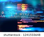 programming code abstract... | Shutterstock . vector #1241533648
