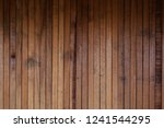 raw wood  wooden slatted fence... | Shutterstock . vector #1241544295