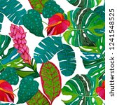 creative seamless pattern with... | Shutterstock . vector #1241548525