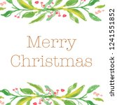 merry christmas  happy holidays ... | Shutterstock . vector #1241551852