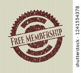 red free membership distressed... | Shutterstock .eps vector #1241554378