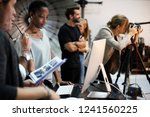 art director checking the... | Shutterstock . vector #1241560225