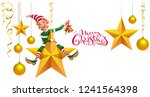 merry christmas text greeting... | Shutterstock .eps vector #1241564398