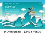 business landing page website... | Shutterstock .eps vector #1241574508
