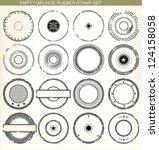 empty grunge rubber stamp set... | Shutterstock .eps vector #124158058