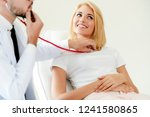male doctor is talking and...   Shutterstock . vector #1241580865