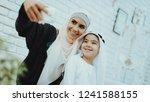 happy muslim mom with little...   Shutterstock . vector #1241588155