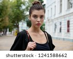 portrait of young pretty... | Shutterstock . vector #1241588662