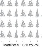 seamless vector merry christmas ... | Shutterstock .eps vector #1241592292