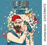 poster for christmas or new... | Shutterstock .eps vector #1241598472