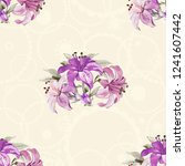 seamless floral pattern with... | Shutterstock .eps vector #1241607442